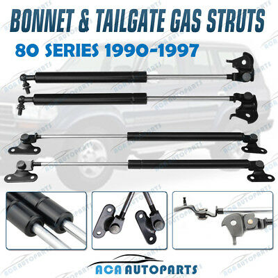 2 Pairs for Toyota Landcruiser 80 Series 90-97 Bonnet+Tailgate Gas Struts Lift