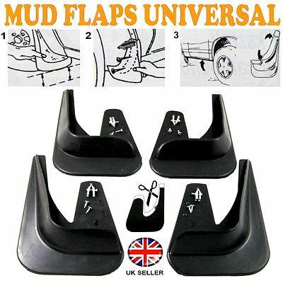 FOR Mercedes-Benz W123 4 x MOULDED MUDFLAPS MUD FLAPS Rubber FRONT REAR