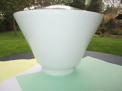 Art Deco Conical Milk Glass Ceiling Globe Glass Light Shade Business School