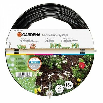 Gardena Micro Drip System 1362-2 Above Ground Drip Irrigation Line Extension Kit