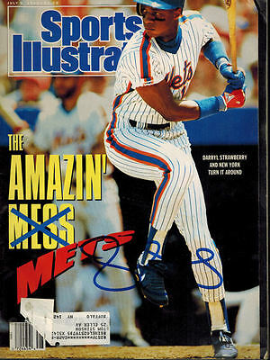 Darryl Strawberry Autographed New York Mets Sports Illustrated 7/9/1990