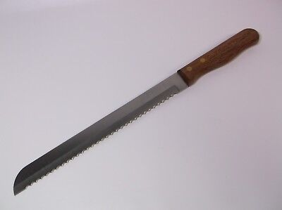 10 inch Commercial Serrated Bread Knife with wood handle great harvest bread co