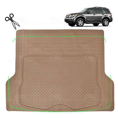 BEIGE 1 Piece Trim to Fit Odorless Premium Cargo Trunk Mat for FORD ESCAPE