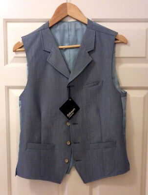 36R Gibson London Baby Blue Waistcoat (Brand new with tags)