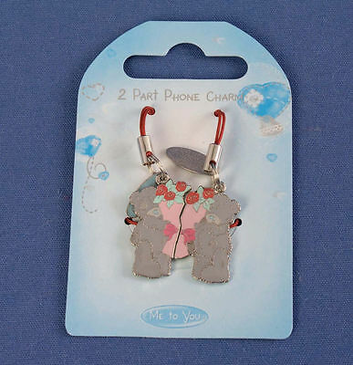 Me To You Tatty Teddy Bear 2 Part Phone Charm - Bunch Of Flowers / Roses # Q0589