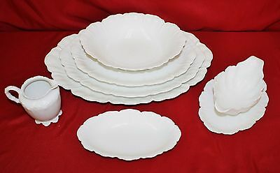 HAVILAND china Limoges RANSON WHITE pattern 7 Pc Service Collection