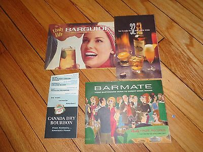 Lot of Vintage Cocktail Books Drinks Mixed Mixing Bartending Br Canada Dry