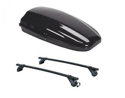 Roof Bars + Box Arjes 320 For Lancia Ypsilon 5 Doors From 2011