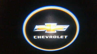 2Pc Chevrolet 5W Led Emblem Door Projector Ghost Shadow Puddle Logo Light
