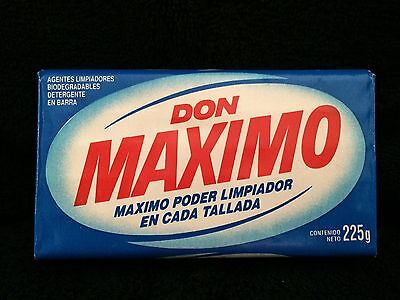 Vintage bar DON MAXIMO DETERGENT SOAP stain spot collar mexico laundry