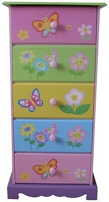Liberty House Toys Butterfly Garden 5-Drawer Storage