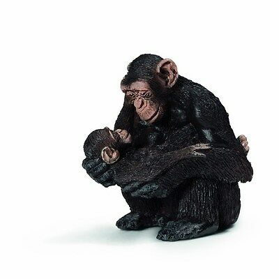 Schleich Chimpanzee Female with Baby STYLE A