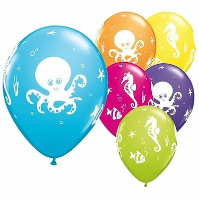 Pkt 10 Fun Sea Creatures Balloons Party Decorations Finding Dory Nemo Under The