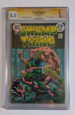 Swamp Thing #10 CGC 8.0 Signed by Bernie Wrightson 1974