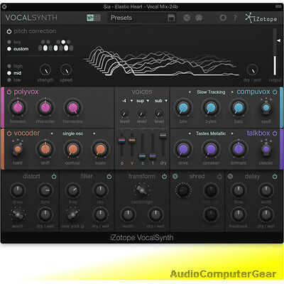 iZotope VOCALSYNTH Vocal Synthesizer Audio Effects Software Synth EDU Plugin NEW