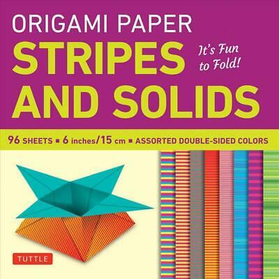 Origami Paper Stripes and Solids: It's Fun to Fold! by Tuttle Publishing (Englis