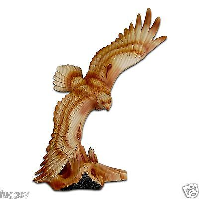 The Cherokee River Collection Soaring Eagle Timber Look Resin Figurine