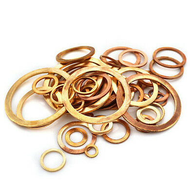 M5 M6 M8 -M48 Marine/Table Copper Gasket Ring Seal Flat Washers Thick 1-1.5-2mm