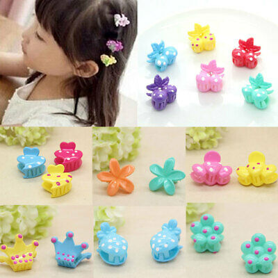 36pcs Fruit Animal Heart Cartoon Mini Hair Claw Clips Kids Girls Jaw Clamp Clips