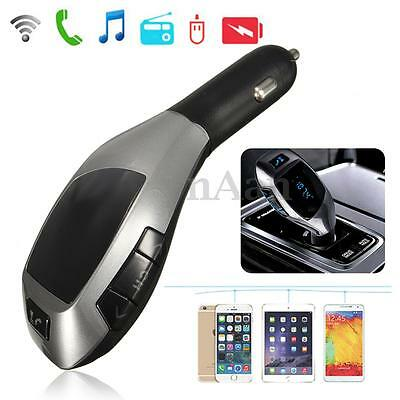 Sans Fil LCD Voiture Bluetooth FM Transmetteur MP3 Main Libre TF Chargeur USB