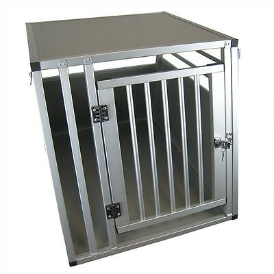 XXL Hundebox Transportbox Aluminium 92 x 65 x 66cm Hundetransportbox