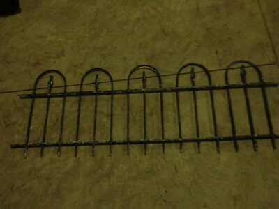 """Antique Wrought Iron Fence or Bed Headboard 20"""" tall 56"""" Long"""