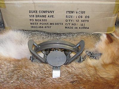 3 Duke #3 offset Coil Spring Traps  Beaver Fox Bobcat Coyote Wolf Trapping