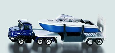 Siku Low Loader with Boat - Toy Vehicle