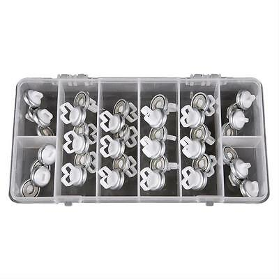 Mag Daddy 32587 Reusable White Magnetic Fastener Wire Zip Tie Cable Assortment