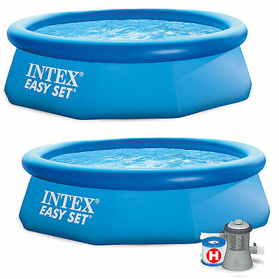 10ft x 30in Intex Easy Set Inflatable Swimming Pool with or without filter pump
