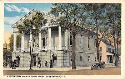 Georgetown South Carolina Court House Street View Antique Postcard K30427
