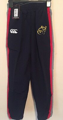 BNWT Munster RugbyPresentation Pant Blue Tracksuit Trousers 8 Years FREE P&P