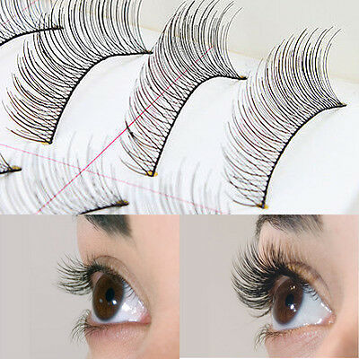 10Pairs Natural Fashion Eyelashes Eye Makeup Handmade Long False Lashes Sparse
