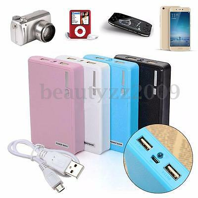 5V 2A Cell Phone Power Bank Supply USB Battery Charger 18650 Box Case for iPhone