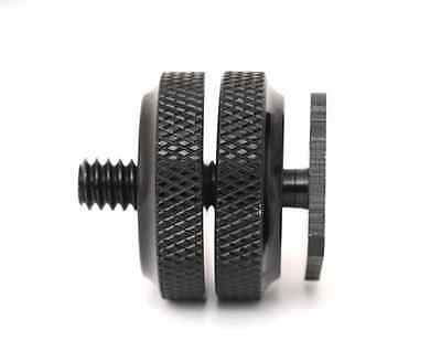 "Premium Pro 1/4"" Dual Nuts Tripod Mount Screw To Flash Camera Hot Shoe Adapter A"