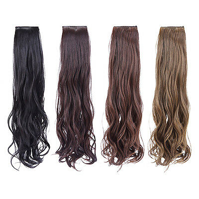 2 Clip/Set Girl Long Curly Ponytail Hair Extension Ladies Hairpiece Wigs