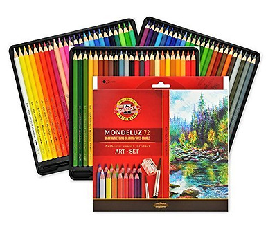 Koh-I-Noor Mondeluz Sets of Aquarell Artists Colored Pencils Crayons 24,36,48,72