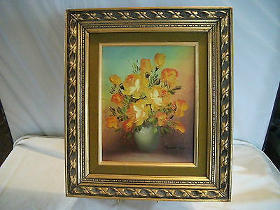 Robert Cox Floral Oil Painting