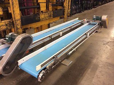 "12""Wx9'L STAINLESS STEEL FRAME BELT CONVEYOR 1/4hp Sumitomo Gearmotor"