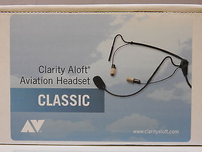 NEW CLARITY ALOFT CLASSIC AVIATION HEADSET W/ CASE, TIPS FREE Priority Shipping