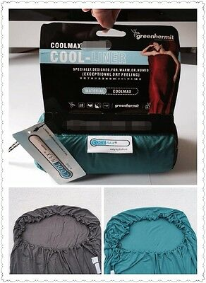 Incredibly Soft And Absorbent New Coolmax Mummy Sleeping Bag Liner Travel Liner