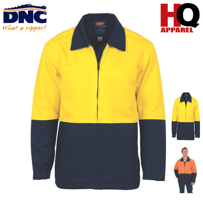Hi Vis Two Tone Protect Or Drill Jacket Work Wear Brand New Clothes 3868 Dnc