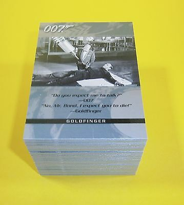 2004 Quotable James Bond OO7 trading cards complete set 100 cards - 007