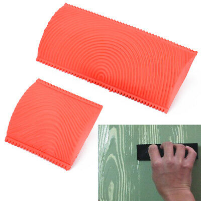 2pcs Wood Graining Grain Rubber Patin Painting Effects DIY Wall Decoration Tool