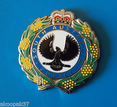 Sa Police Lapel Badge Enamel And Nickel Silver 25Mm High Social Item Only