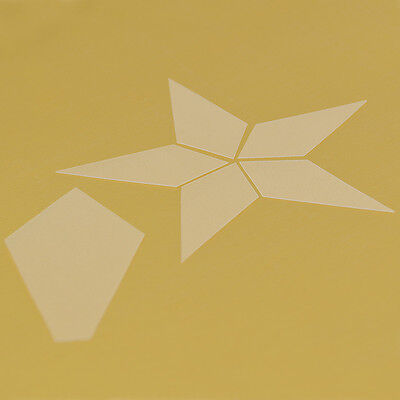 Transparent Frosted Plastic Patchwork Template Star Shape Quilt Mold DIY Tool