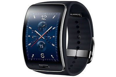 Genuine Samsung Galaxy gear S SM-R750 Curved AMOLED Smart Watch Black NEW