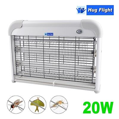 Hug Flight 20W Electric Fly Killer Insect Bug Kitchen Industrial Zapper UV 2x10W