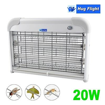 20W Fly Insect Bug Killer Electric Restaurant Kitchen Industrial Zapper UV 2x10W