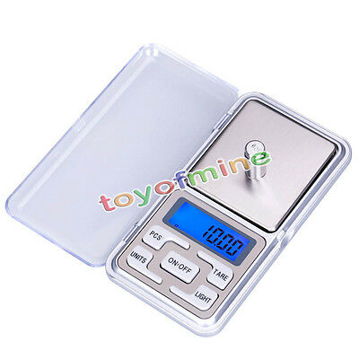 200g x 0,01g Mini Digitale Taschenwaage Schmuck Gewicht Stainless display